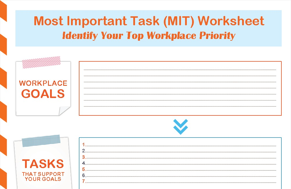 Most Important Task (MIT) Worksheet (Free Download)